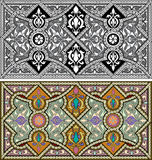 Set of Arabesque patterns Stock Images