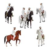 Set of arabian riders royalty free illustration