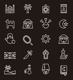 Set of Arabic culture web icons Stock Image