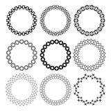 Set of arabic geometric figures ornament round frames. royalty free illustration