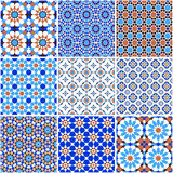 Set of arabic geometric patterns Stock Images