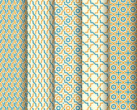 Set of Arabic seamless patterns Royalty Free Stock Photos