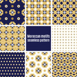 Set of Arabic seamless patterns, vector Royalty Free Stock Images