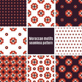 Set of Arabic seamless patterns, vector Royalty Free Stock Image