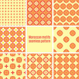 Set of Arabic seamless patterns, vector Royalty Free Stock Photos