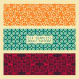 Set of Arabic seamless patterns, vector. 10 eps Royalty Free Illustration
