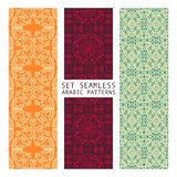 Set of Arabic seamless patterns, vector. 10 eps Stock Illustration