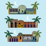 Set arabscy domy Obraz Stock