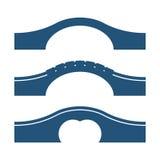 Set of arc bridges vector illustrations isolated on white background Stock Photo