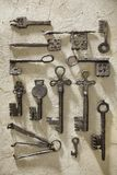 Set archeologiczni klucze obraz stock