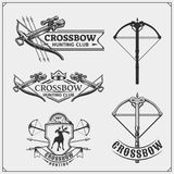 Set of archery sports emblems, labels and design elements. Vector illustration Royalty Free Stock Photos