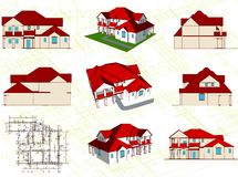Set architectural objects. Vector Stock Photography