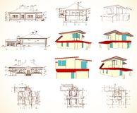 Set architectural objects. Vector Royalty Free Stock Photos