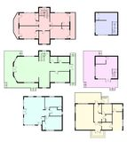 Set of architectural plans Stock Photo