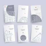 Set of architecture company identify cards. Vector tags Stock Image