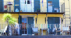 Set Architecture of the French Quarter in New Orleans, Louisiana. Royalty Free Stock Images