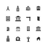 Set of architecture icons Royalty Free Stock Photos