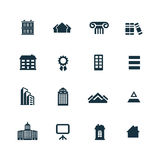 Set of architecture icons. On white background Royalty Free Stock Photo