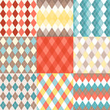 Set of Argyle seamless pattern stock photography
