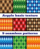 Set Argyle seamless texture vector Royalty Free Stock Photo