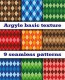 Set Argyle seamless texture vector Stock Photography