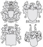 Set of aristocratic emblems No7 Royalty Free Stock Photography