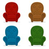Set of armchairs Stock Photo