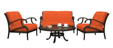 Set of armchairs,sofa and table Stock Image