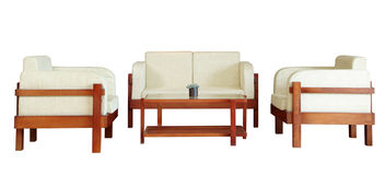 Set of armchairs,sofa and table Royalty Free Stock Photos