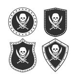 Set of army badges with a pirate symbol. On the image presented Set of army badges with a pirate symbol Stock Images