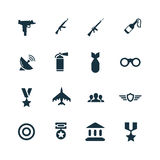 Set of army icons Stock Images