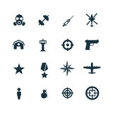 Set of army icons Royalty Free Stock Photography