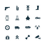 Set of army icons Stock Photo