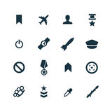 Set of army icons Stock Photography