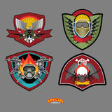 Set Army logo. Vector illustration.  Arms and wings Stock Photo