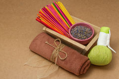 Set of aroma incense , aromatic spa Stock Photo