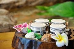 Set of aroma in spa. Set of aroma for using in spa royalty free stock image