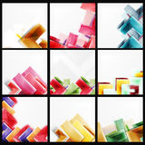 Set of arrow backgrounds Royalty Free Stock Photos