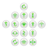 Set of arrow buttons Stock Photography