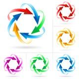 Set of arrow circles vector illustration