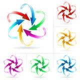 Set of arrow circles Stock Photos
