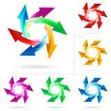 Set of arrow circles Royalty Free Stock Photo