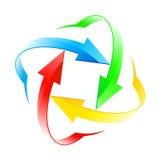 Set of arrow circles Royalty Free Stock Image