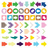 Set of arrow color full vector Royalty Free Stock Images