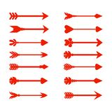 Set arrow icon. Different red arrows sign. Elements for infographic - vector. Set arrow icon. Different red arrows sign. Elements for infographic – stock Stock Photography