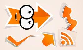 Set arrow icon pointer Internet wifi web Stock Images
