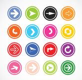 Set of arrow icons Stock Photography