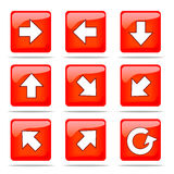 Set of arrow icons. 9 directions and reload icon Stock Images