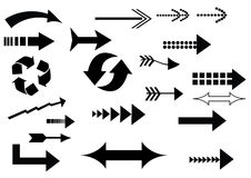 A set of arrow icons Stock Images