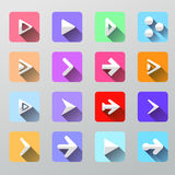 Set arrow icons - flat UI for web and mobile Stock Photo
